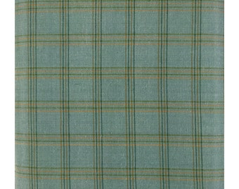 Better at the Lake Yarn Dye Plaid Teal Fabric by One S1ster Designs