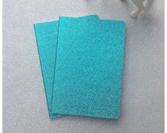 Blue Glitter Notebook