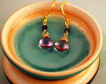 Pink Amethyst Earrings February Birthstone