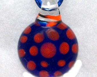 Florida Gators Orange and Blue Round Dot Pendant or Focal Bead