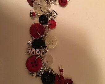 Red and the Black charm bracelet