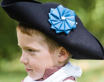 how to make a colonial tricorn hat out of felt