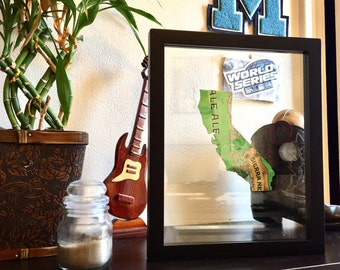 Unique Sierra Nevada California Custom Hand Cut Beer Can Art in a Floating Frame- Perfect for your Bar or Man Cave!