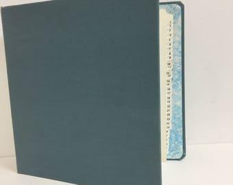 Canvas Three Ring Binder/ Vintage canvas binder/ Vintage notebook binder/ Vintage canvas three ring binder/ Vintage office/ Vintage school