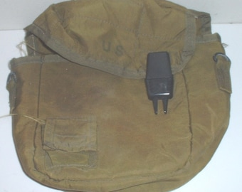 US Army 2-Quart M-1967 canteen carrier, cotton GP strap and canteen circa 1980s
