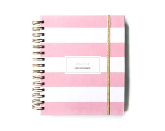 2018 planner personalized custom planner 2018 planner 2018 weekly planner 2018 daily planner student  2018 hourly planner wedding planner