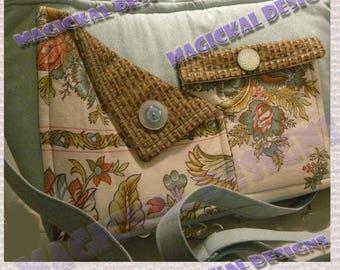 AQUA VINTAGE - Pockets, Pockets, Pockets, Handbag, inner pockets, outer pockets, zipper closure, cloth, purse, shoulder, adjustable, strap,