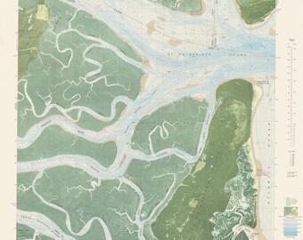 St. Catherine's Sound GA Historical Map 1979