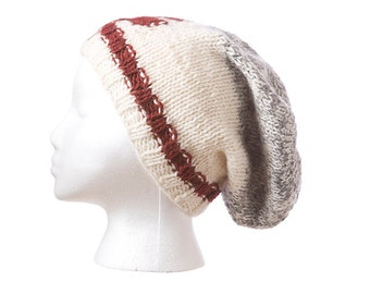 Maple Cabin Slouch Hat, toque, beanie, knit cap,
