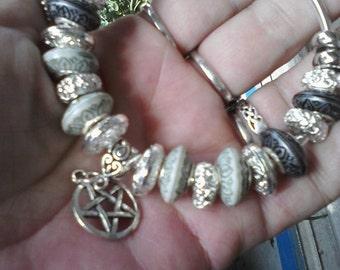 Pagan Wiccan, Sacred smoke, Euro style bracelet