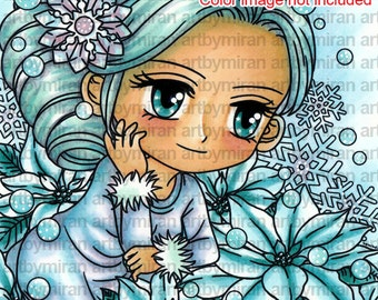 Digital Stamp - Charis (#262), Digi Stamp, Coloring page, Printable Line art for Card and Craft Supply