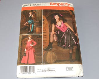 Uncut 14-20 Simplicity 2851 Costume Pattern