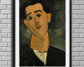Amedeo Modigliani Portrait of Juan Gris Paris factions Art Poster Wall Pictures Wall Decor Prints No Frame 32 inches
