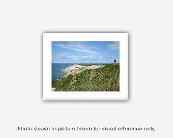 Martha's Vineyard Photography, Aquinnah Lighthouse Gay Head Cliffs Art Photos, Prints, Photographs, Wall Art, Blank Photo Greeting Note Card