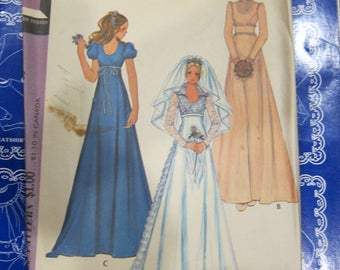 McCall's 3770, McCall's Bridal & Bridesmaid Gown or Maxi Dress , McCall's wedding  pattern, wedding dress sewing pattern, Vintage dress