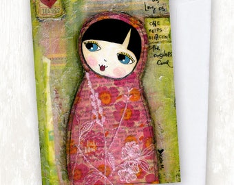 Collage Babushka GREETING CARD