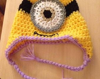 Crochet Childrens Minion Hat