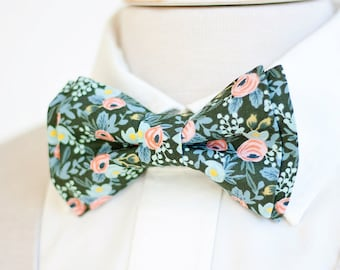 Bow Tie, Mens Bow Tie, Bowtie, Bowties, Bow Ties, Groomsmen Bow Ties, Wedding Bowties, Ties, Rifle Paper Co - Rosa In Forest
