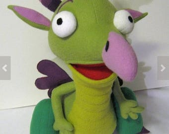 Rare Soft Plush Just Like Draco The Dragon from Baby TV *BRAND NEW*