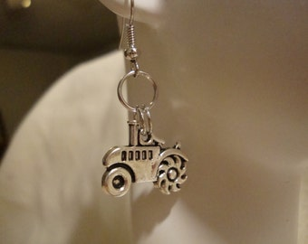 tractor earring, tractor, earrings, tractor jewelry, tractor costume jewelry, cute tractor jewelry, cute tractor earring, cute jewelry (330)