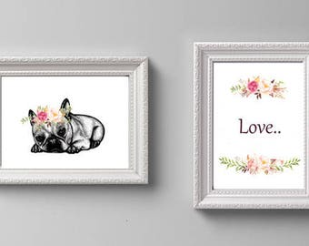 2 Original Illustrations_Wall Art For Animal Lovers_A4 Print on Archival Paper