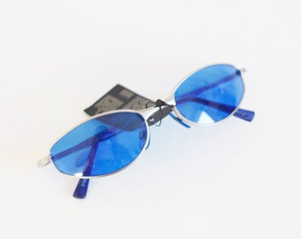 Y2K BLUE oval sunglasses 00S, perfect for spring and summer / festival / oval / sunglasses / rave / raver / club-kid / club kid / techno