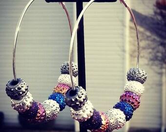 Big hoop earrings