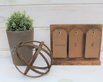 Desk Calendar. Wooden Perpetual Calendar. Wooden Calendar. Perpetual Calendar. House Warming Gift. Wedding Gift. Christmas Gift.