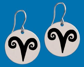 Aries   Aries Jewelry   Aries Earrings   Aries Gifts   Zodiac Earrings   Zodiac Jewelry   Birthday Jewelry   Apla Agapa