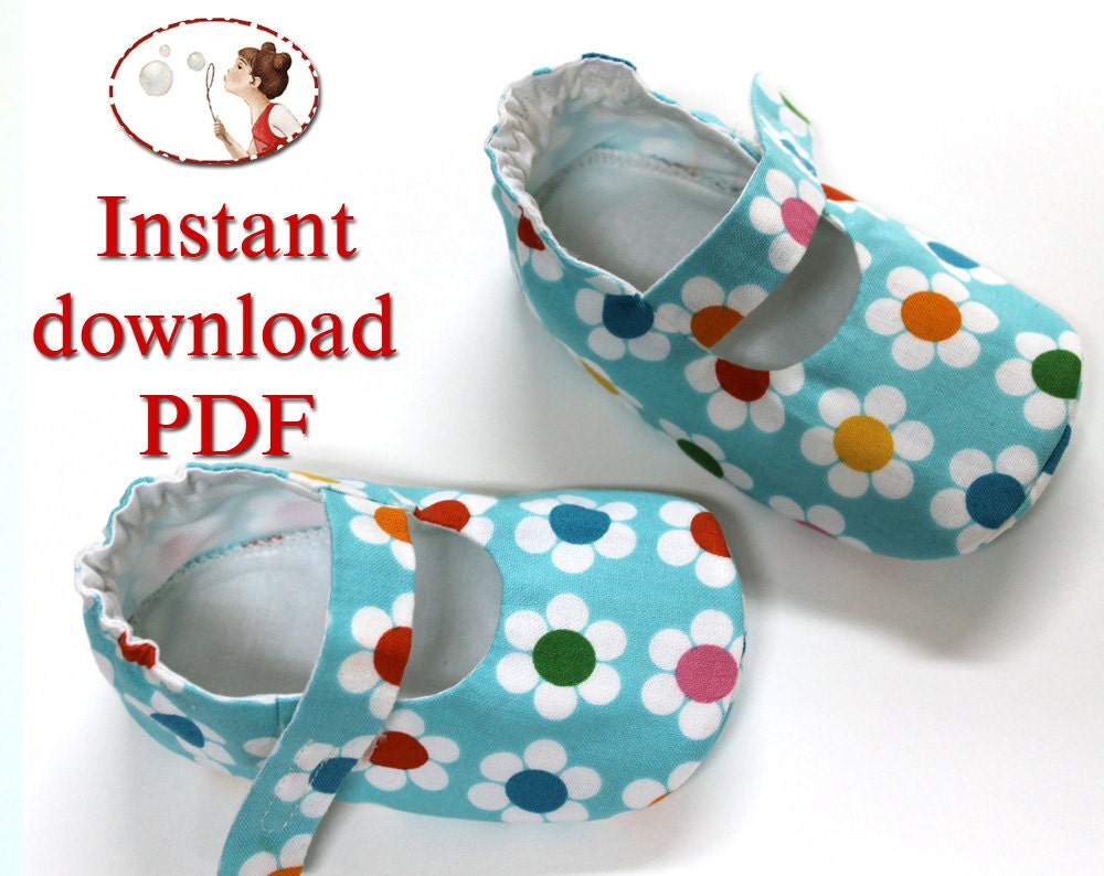 Instant download sewing pattern baby lilly shoes pdf diy zoom jeuxipadfo Choice Image