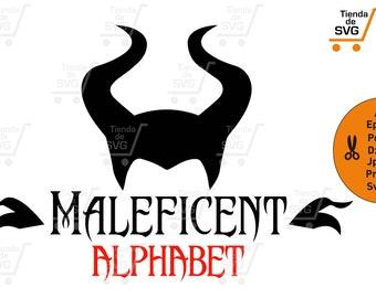 MALÉFICA font svg, malefica alphabet svg, maleficent svg, sleeping beauty svg, maléfica disney svg, maleficent svg, disney svg, aurora svg