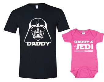 Funny Dad and Baby Shirts, Father Son Matching Shirts Star Wars, Dad and Daughter Matching Shirts, Star Wars Jedi Shirts, Daddy Son Outfits