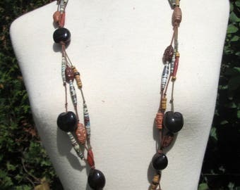 ethnic necklace brown collection nature