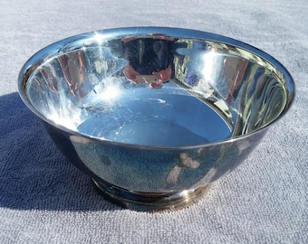 ON SALE Gorham mid-century Silver Plate Paul Revere Bowl  YC799