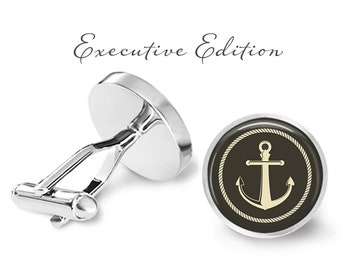 Nautical Anchor Cufflinks - Nautical Cuff Links - Anchor Cufflink (Pair) Lifetime Guarantee (S0957)