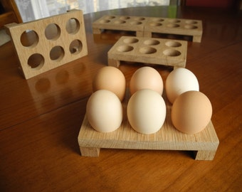 Eggs stand, oak wood