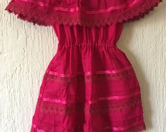 Campesino mexican fucsia dress