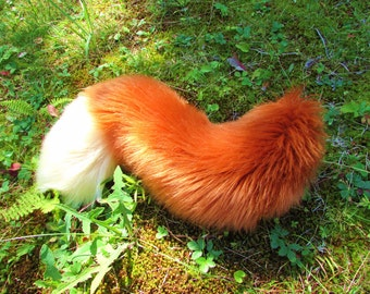 Any Color Fluffy Furry Fox Tail Cosplay Wearable Fursuit Tail