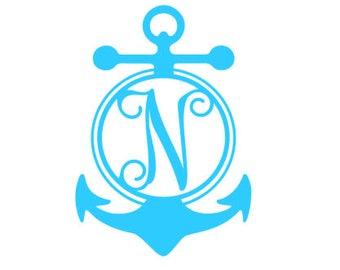 Single Letter Anchor Monogram