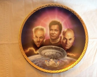 Star Trek Generations Collector Plate The Ultimate Confrontation Hamilton Collection 1995