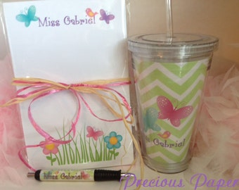 Personalized  Teacher notepad and tumbler set Teacher notepads teacher tumblers Teacher Gifts