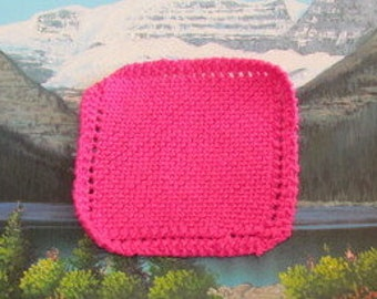 004 CF Knit dish cloth 6 by 6 6.5 by 6.5