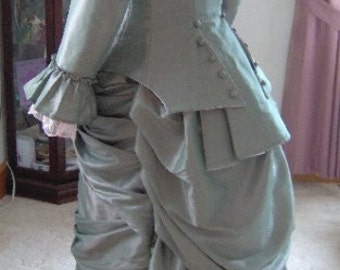 FOR ORDERS ONLY - Custom Made - 1800s Victorian Dress 1880s Bustle Gown - 1870s Wedding Bridal - Tea