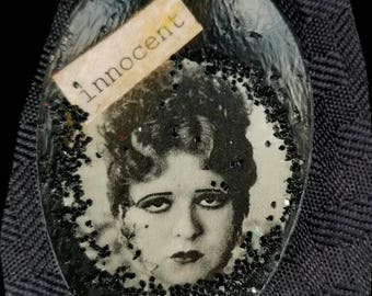Altered Spoon Pendant/Necklace   Vintage Girl    Innocent