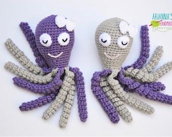 Preemie Octopus / Crochet Octopus / Preemie baby / 100% cotton yarn