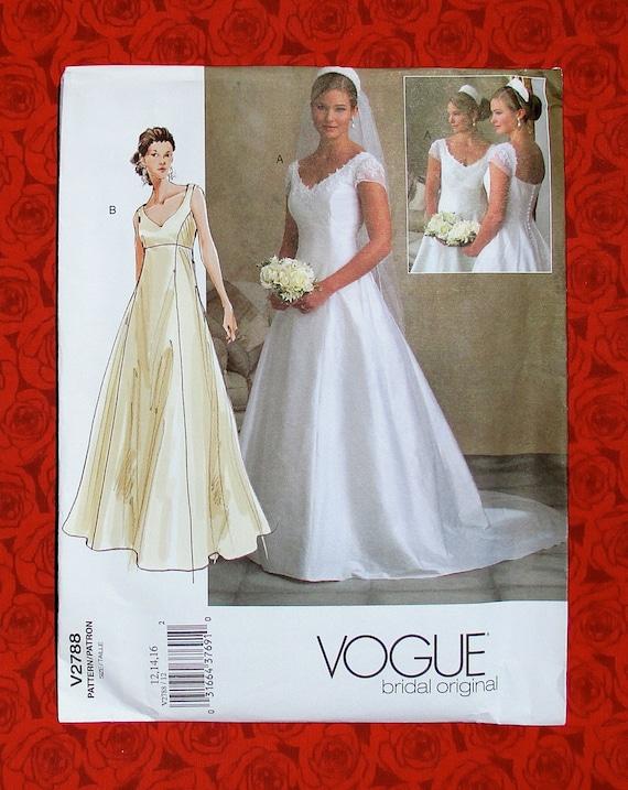 Vogue Sewing Pattern V2788 Bridal Gown Formal Evening Dress