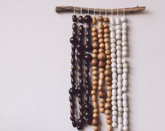 Fargo, beaded wall hanging by/ pacific loom