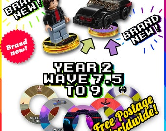 NEW! YEAR 2 pt 2 Lego Dimensions Base Stickers - 14 More Designs WAVES 7.5 - 9
