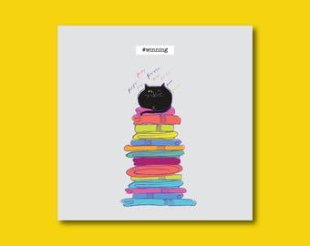 Fun Congratulations Cat Card  #winning