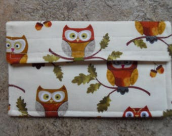 NEW SMALLER The Wise Owl  Coupon Holder / Organizer / Receipt/ Appointment /Gift Card Holder